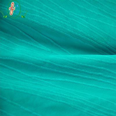 锦纶条纹提花纬编布面料