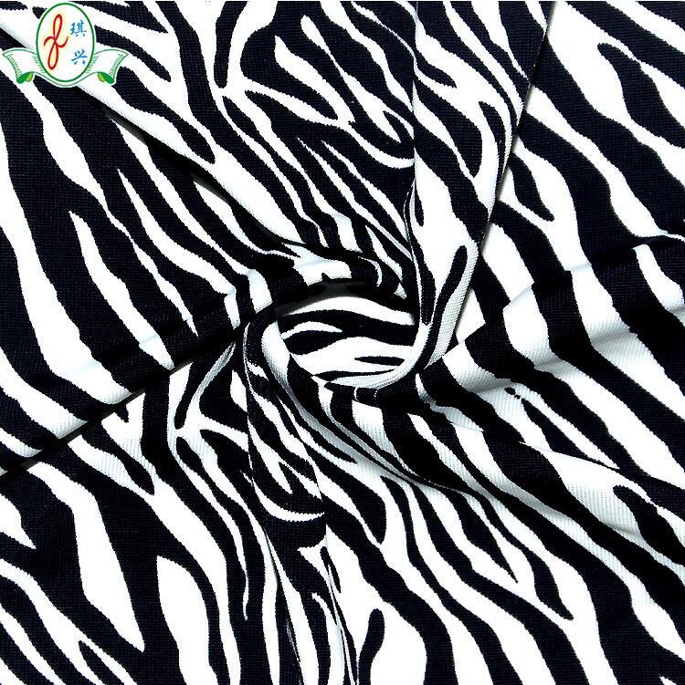 斑马平纹印花防水工艺泳装布料