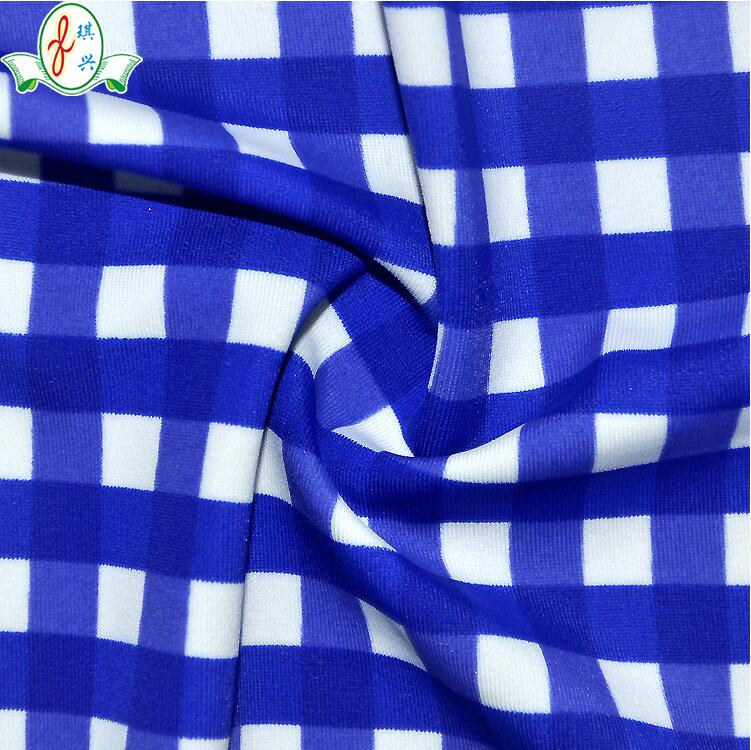 涤纶针织莱卡泳装面料  涤氨拉架泳衣布