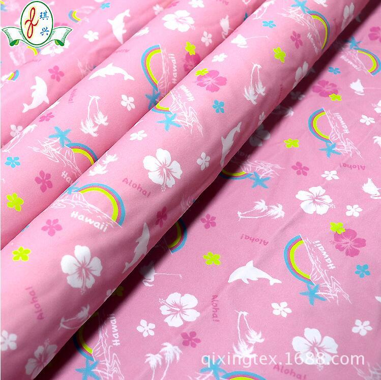 儿童卡通印花锦纶泳装布料
